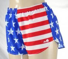 american flag running shorts