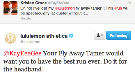 Lululemon being funny on twitter